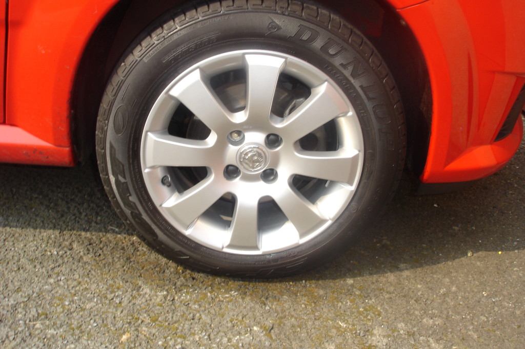 Repair complete and wheel back on car